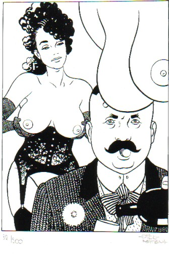 Dick Matena portfolio met 8 erotische tekeningen-0