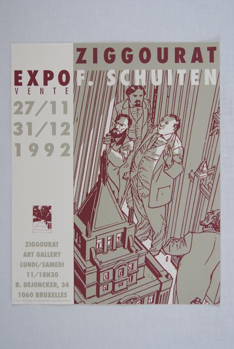 """Francois Schuiten """"Expo in Ziggourat Brussel""""-0"""