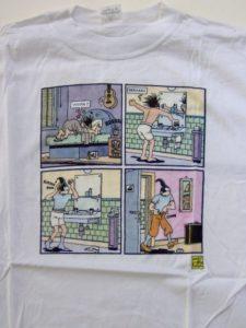 T-shirt Joost Swarte opstaan en aankleden-0