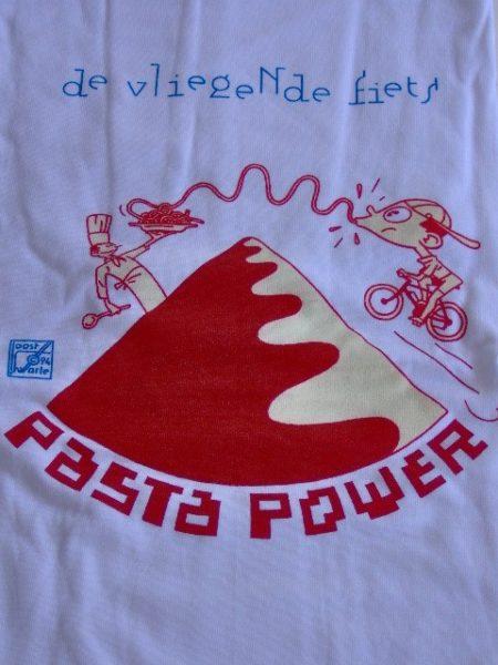 T-shirt Joost Swarte Pasta Power de vliegende fiets-0