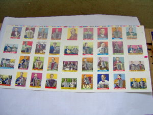 Robert Crumb drukproef van kaarten van muziekanten-0