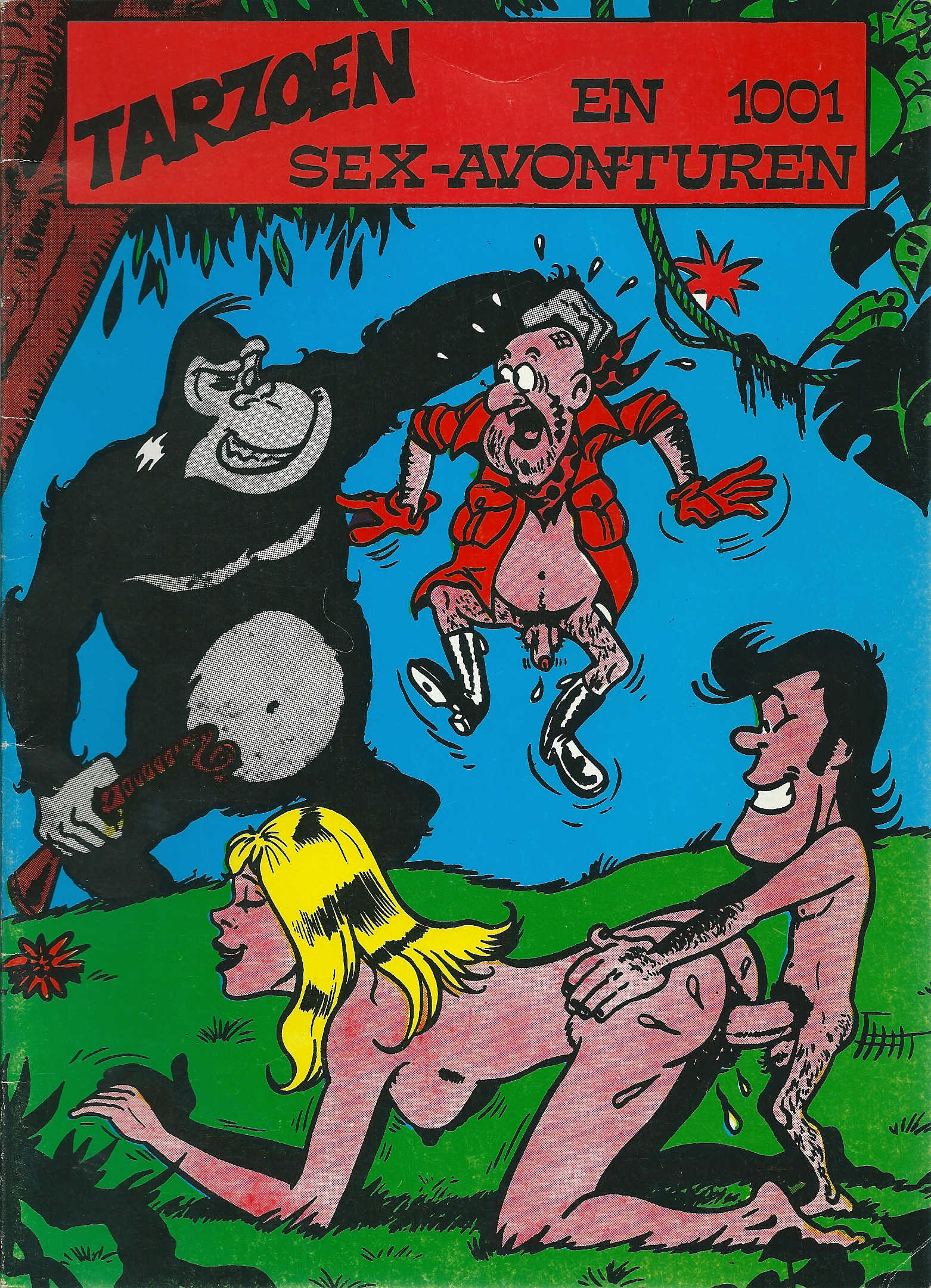 Tarzoen en 1001 sex-avonturen (parodie op Tarzan)-0