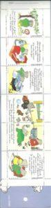 Babar 6 imitatie postzegels in kartonnen omslagje-0