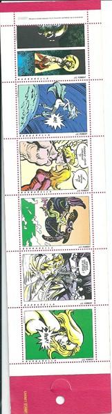 Barbarella 6 imitatie postzegels in kartonnen omslagje-0