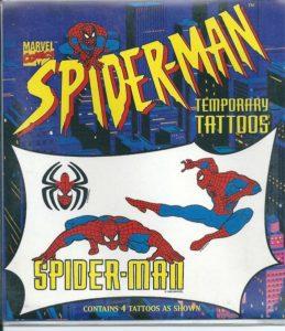 """4 """"tijdelijke tattoeages"""" van Spiderman-0"""