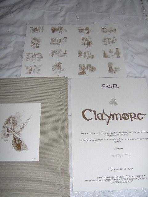 Ersel portfolio Claymore Gesigneerd-0