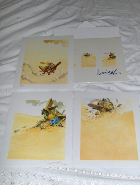 Loisel Triptyque 3 zeefdrukjes Gesigneerd/genummerd-0